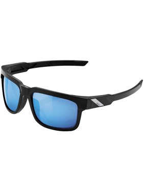 e1efd0d0678 100% Type-S Sunglasses Matte Black Blue Mirror HiPER Lens