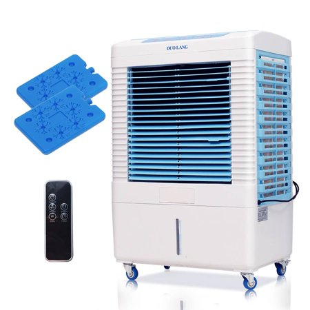 Portable Evaporative Air Cooler w/Remote Control & Ice Boxes - Fan ,Air Humidifier,Air Conditioner, Air Purifier - 3 Speeds Ideal for Supermarket ,Restaurant ,Warehouse,Outdoor Exhibition Hall](Uses For Dry Ice Halloween)