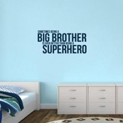 Sweetums Big Brother Superhero' 38 x 18-inch Wall Decal