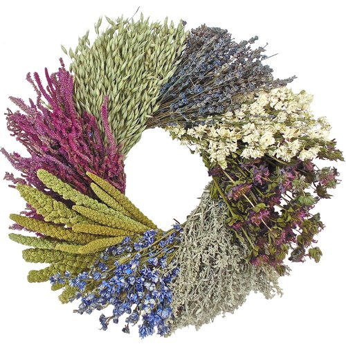 Dried Flowers and Wreaths LLC 20'' Dried Flower Wheel Wreath