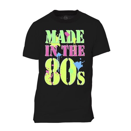 Mens Generation X Made In The 80S Neon T Shirt