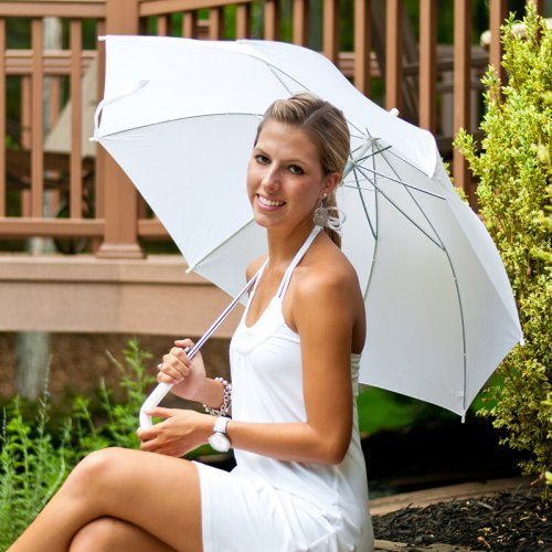 Elite Rain Frankford WA10 Solid White Auto-Open Umbrella
