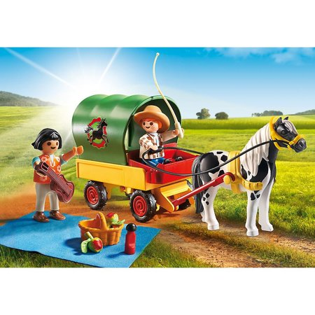 PlayMobil - Picnic with Pony Wagon Playset 5686