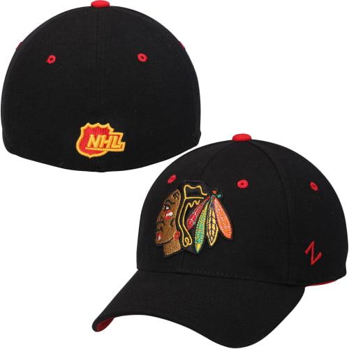 Chicago Blackhawks Zephyr Breakaway Flex Hat - Black