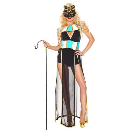 5 Piece Elegant Egyptian Bastet Costume - Medium & - Bastet Costume