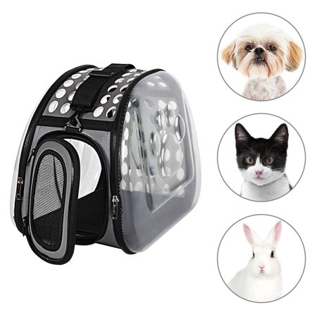 HERCHR Pet Carrier, Outdoor Foldable Pet Carrier Soft Side Hard Cover Handbag for Small Pets, Pet Travel Bags Travel Kennel for