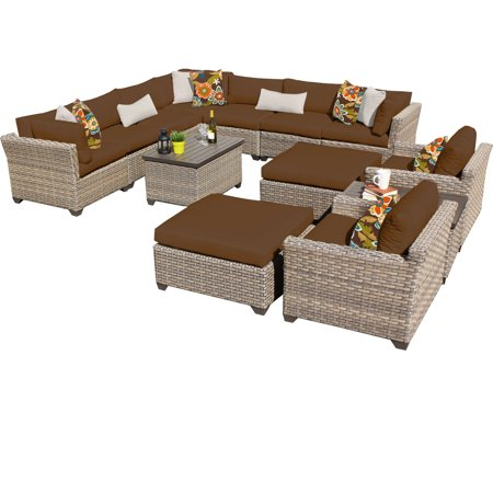 Hampton 13 Piece Outdoor Wicker Patio Furniture Set 13a ()