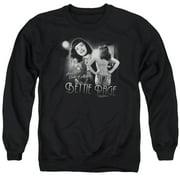 Bettie Page Center Of Attention Mens Crewneck Sweatshirt