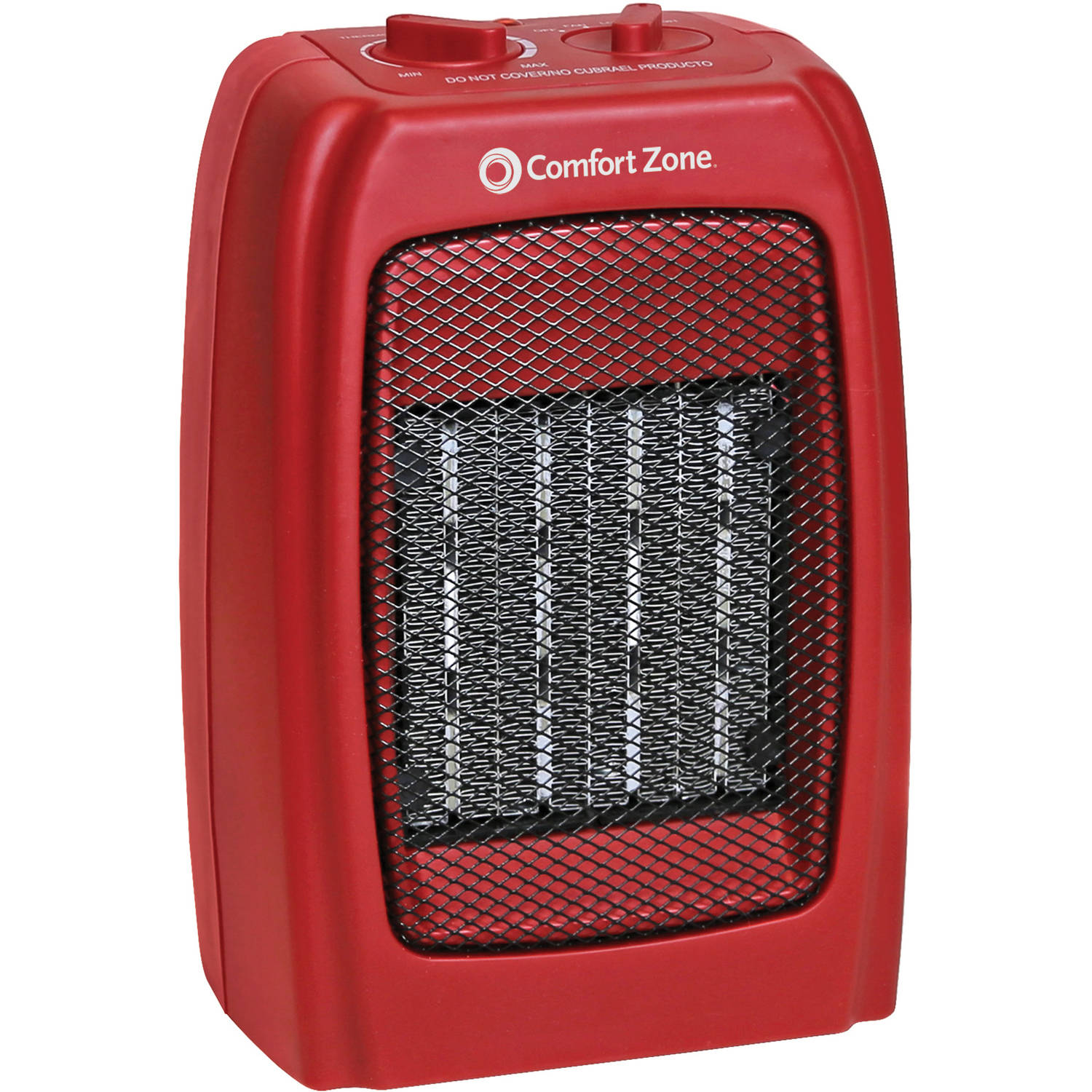 Comfort Zone Ceramic Heater, Red