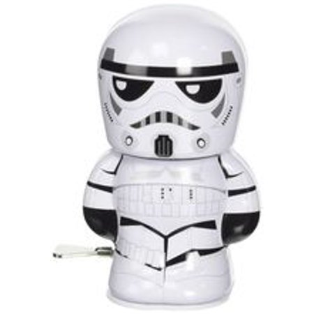- star wars stormtrooper shylling collectible tin wind up toy figure