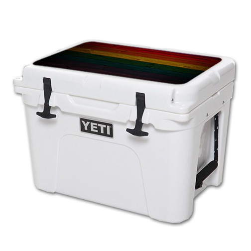 MightySkins Protective Vinyl Skin Decal for YETI Tundra 35 qt Cooler Lid wrap cover sticker skins Wood Style