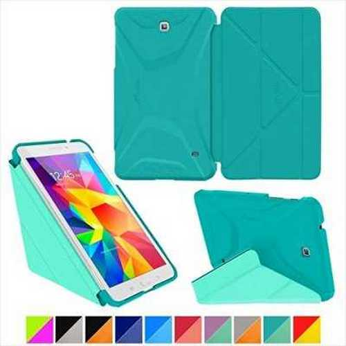 Roocase RC-GALX8-TAB4-OG-SS-TB-MC Samsung Galaxy Tab 4 8.0 Origami 3D Case - Turquoise Blue & Mint Candy