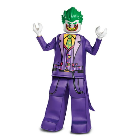 Lego Batman Movie Joker Prestige Boys Costume Tunic/Pants/Mask/Hands S 4-6