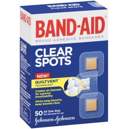 Clear Bandages (BAND-AID Bandages Clear Spots 50 Each (Pack of 4))