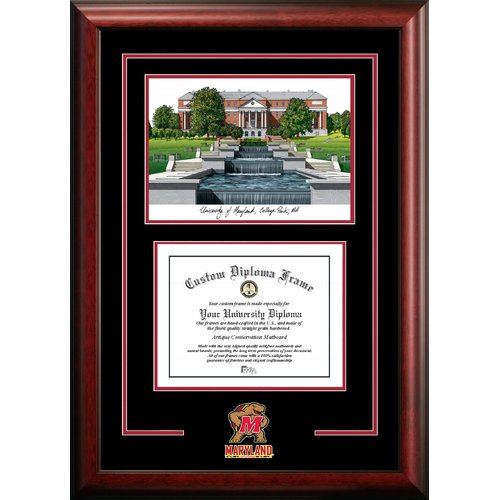 "Maryland Terrapins 13"" x 17"" Spirit Graduate Diploma Frame"