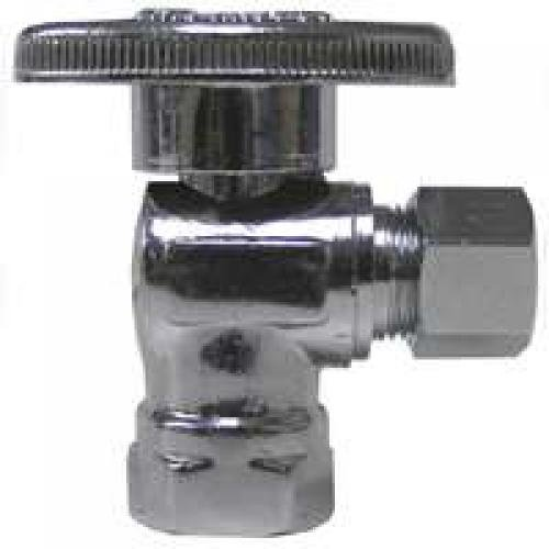 Watts PBQT-100 3/8Fpx3/8C Angle Quarter-Turn Valve Fip Inlet X Compression Angle - Each