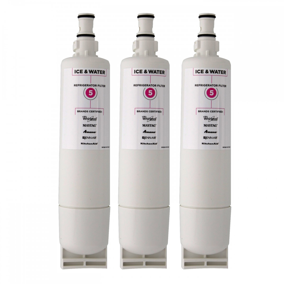 Whirlpool EveryDrop EDR5RXD1 4396508 4396510 Filter 5 Ice & Water Filter - 3 Pack