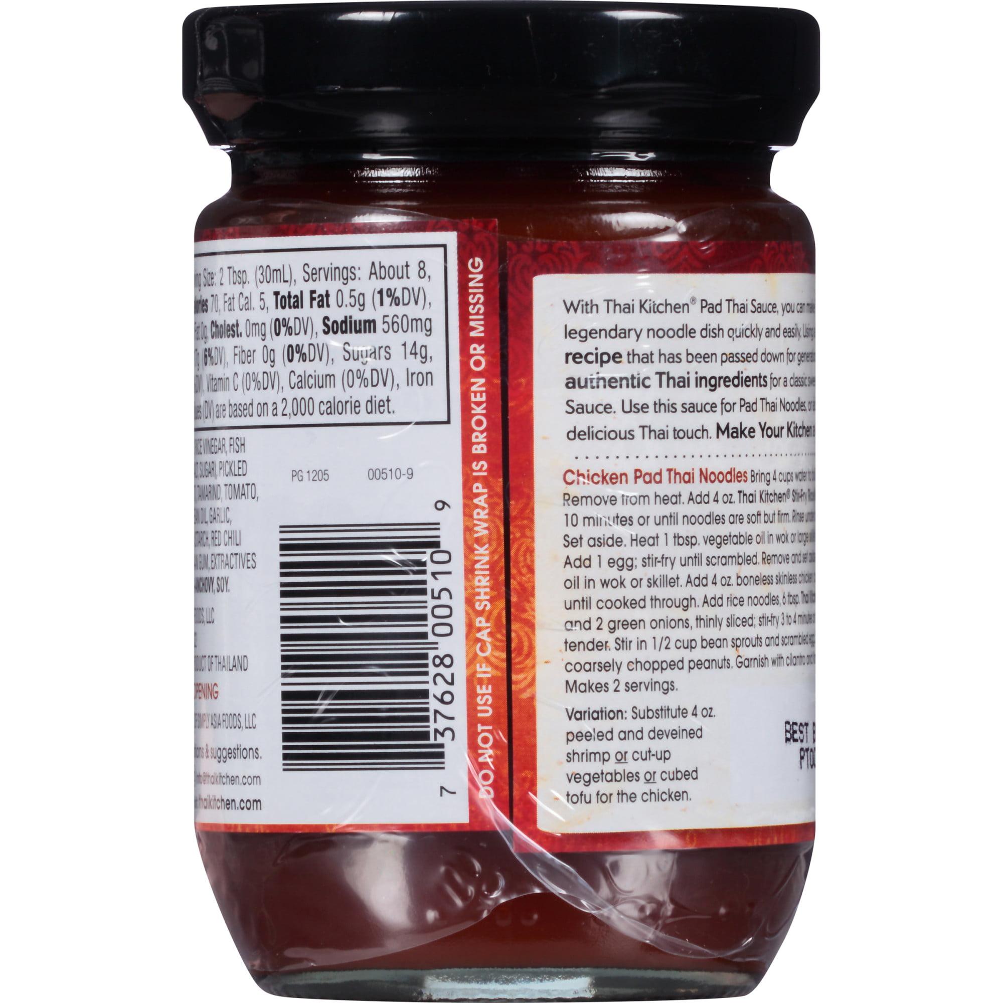 Thai Kitchen Gluten Free Pad Thai Sauce, 8 fl oz - Walmart.com