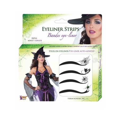 Spider Woman Makeup Face (Deluxe Spider Web Spiderman Spiderwoman Stick On Eyeliner Accessory Makeup)