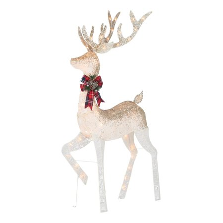 Holiday Time Light Up Outdoor Ombre Glitter Reindeer