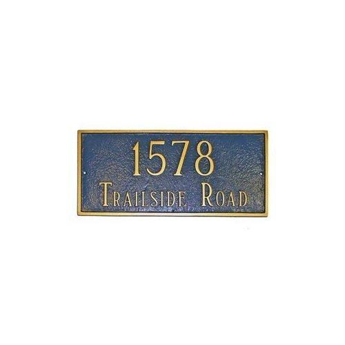 Montague Metal PCS-43L Large Classic Decorative Rectangular Two Line Address Plaque Black by Brand New