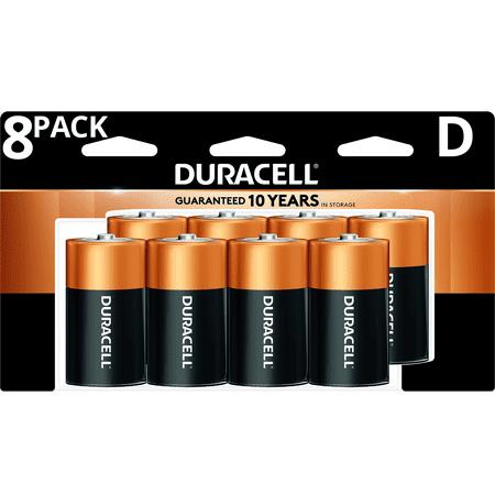 Duracell 1.5V Coppertop Alkaline D Batteries 8 Pack (D Geformte Sonnenbrille)