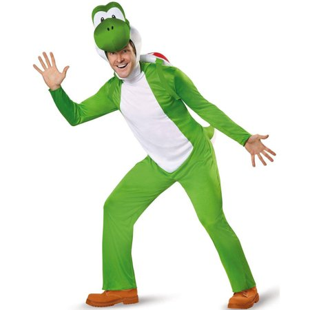 Super Mario Deluxe Adult Yoshi Men's Plus Size Adult Halloween Costume, 2X](Riding Yoshi Costume)