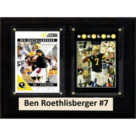 C&I Collectables NFL 6x8 Ben Roethlisberger Pittsburgh Steelers 2-Card Plaque