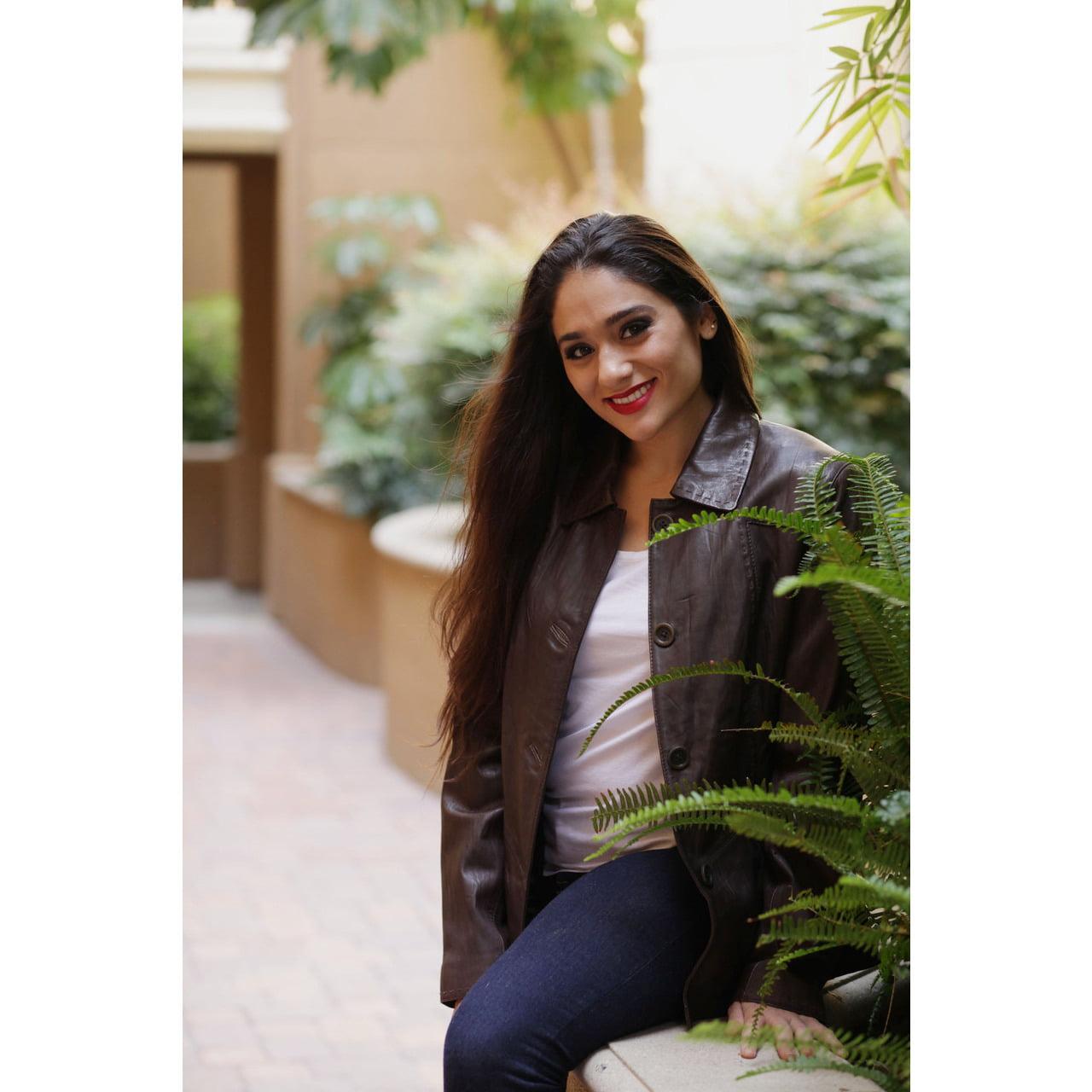 Sarah Womens Leather Coat