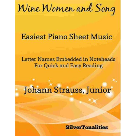 Wine Women and Song Opus 333 Easiest Piano Sheet Music - - Halloween Theme Song Music Sheet
