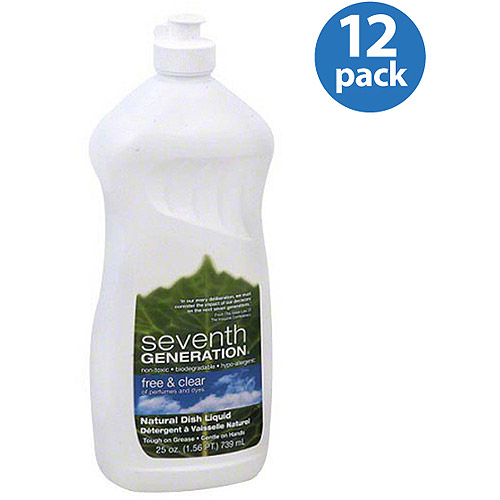*****DISCONTINUED****Seventh Generation Free & Clear Natural Dish Liquid, 25 oz (Pack of 6)