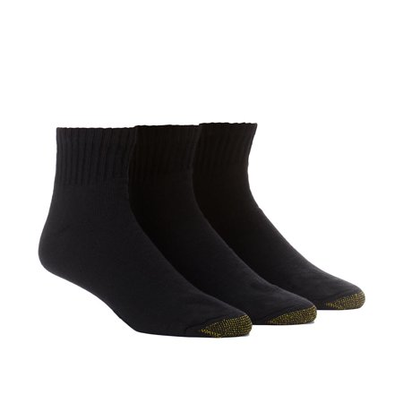 Gold Toe Men's Full Cushion Cotton Quarter Socks, 6 Pairs ()
