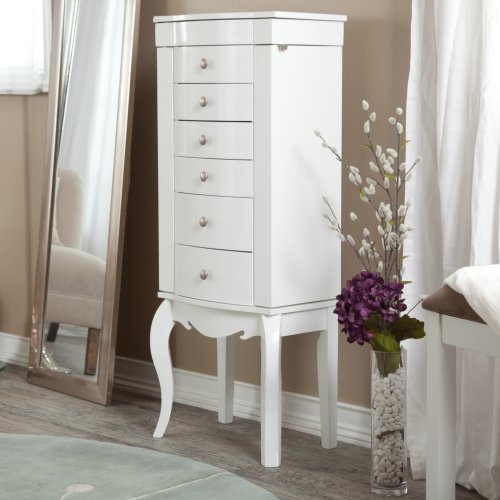 Waterford Jewelry Armoire - High Gloss White