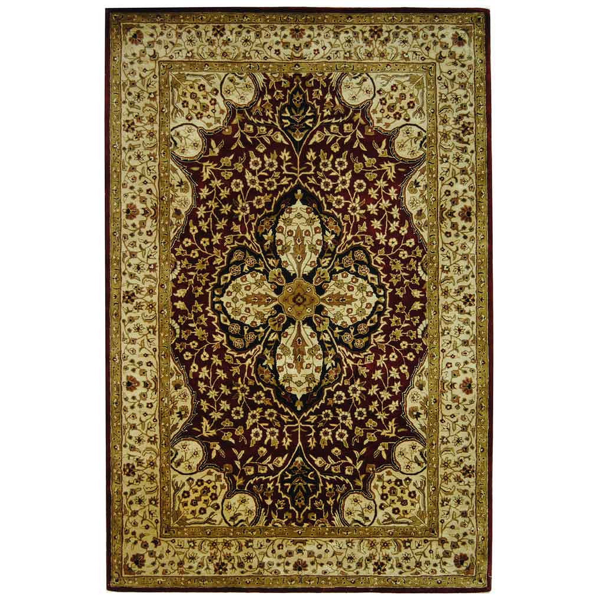 Safavieh Persian Legend Caryn Hand Tufted New Zealand Wool Area Rug, Red and Beige