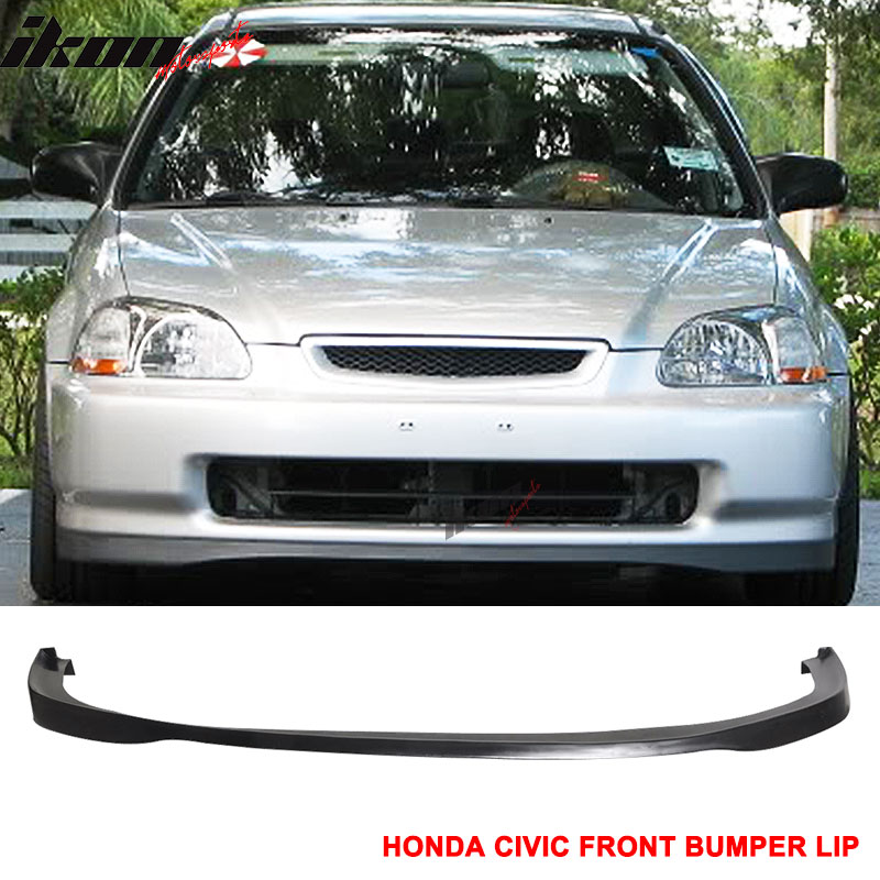 Fits 96-98 Honda Civic SIR Front Bumper Lip Unpainted - Urethane