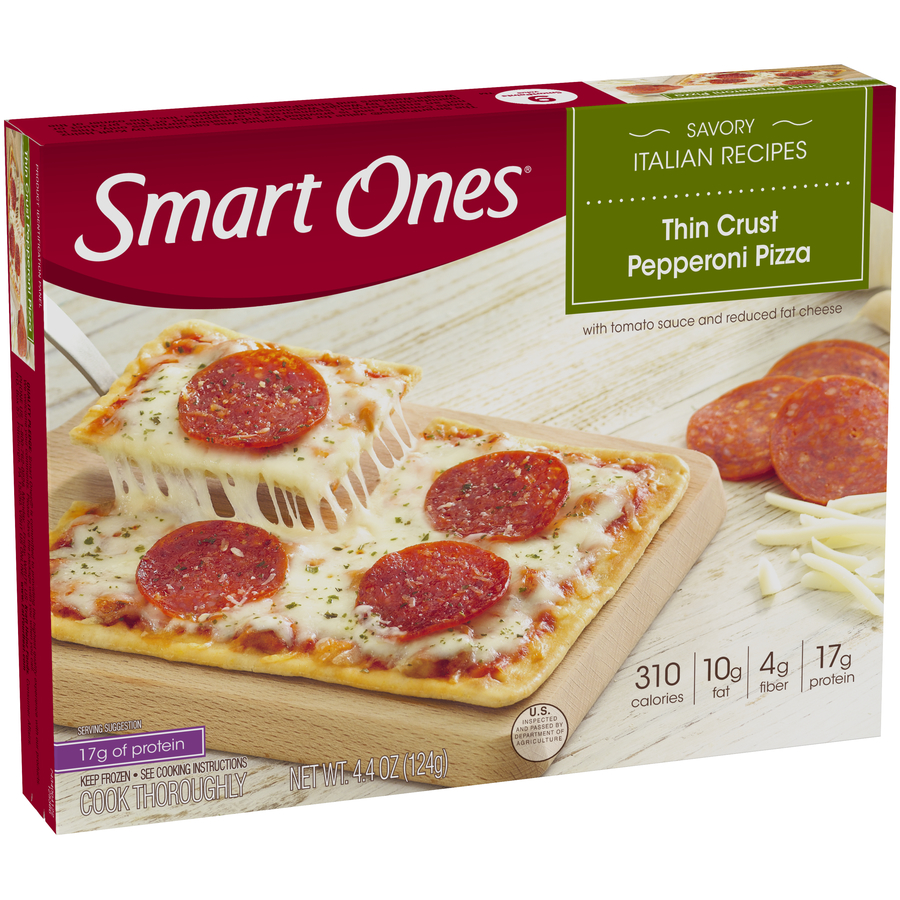 Smart Ones® Savory Italian Recipes Thin Crust Pepperoni Pizza 4.4 oz. Box