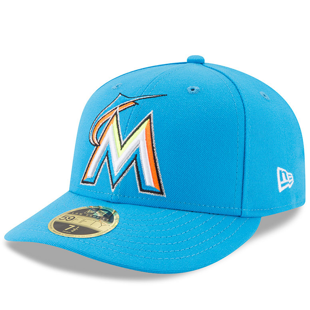 Men's New Era Blue Miami Marlins 2017 Players Weekend Low Profile 59FIFTY Fitted Hat