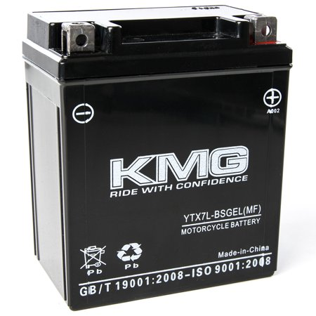 KMG 12 Volts 7Ah Replacement Battery for Kawasaki EX250 Ninja 1995-2007 - image 3 de 3