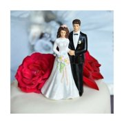 traditional vintage bride and groom wedding cake topper decoration bride and groom figurine is 45