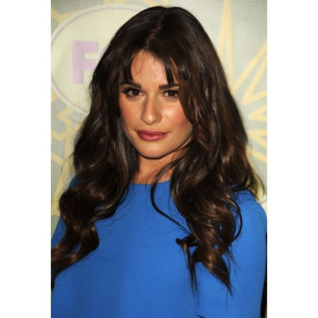 Lea Michele In Attendance For Fox All Star Party Rolled Canvas Art     8 X 10