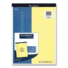 """Mead Legal Pad, College Rule, 70 Sheets, 8-1/2""""X11"""", White"""