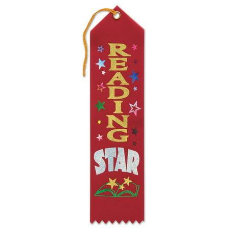 The Beistle Company Reading Star Award Ribbon (Set of 6)