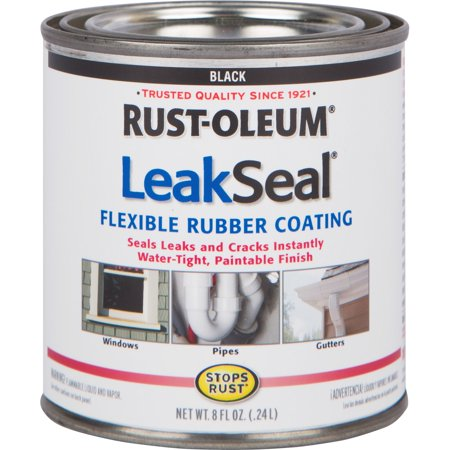 LeakSeal, RST275117, Brush Flexible Rubber Coating, 1, Black