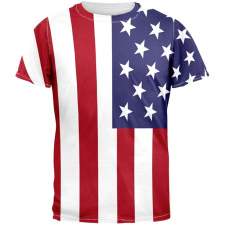 4th of July American Flag All Over Adult T-Shirt - Walmart.com