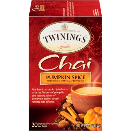 (6 Boxes) Twinings of London Pumpkin Spice Chai Tea Bags, 20 Ct](Halloween Pumpkin Spice Cookies)