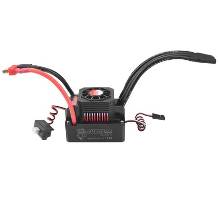 SURPASS HOBBY 120A Brushless ESC Waterproof Electric Speed Controller for 1/8 1/10 RC Truck Off-road Car - image 5 de 7