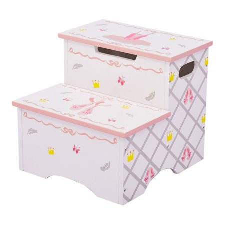 Wooden Step Stool - Fantasy Fields - Swan Lake Step Stool