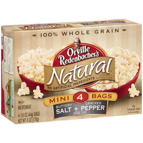 Orville Redenbacher's Natural Buttery Salt & Cracked Pepper Microwave Popcorn, 4ct