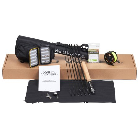 Cross Water Fly Rod - Wild Water Fly Fishing Complete 5 Weight 7 Piece Pack Rod & Reel Starter Package