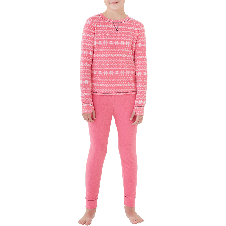 Girls' Fleece Warm Underwear Set